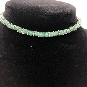 ANKLET green howlite turquoise